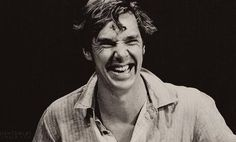 Benedict Cumberbatch - His face when he laughs there are no words for it.