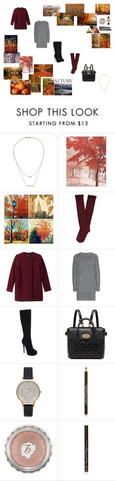"""""""October."""" by fashionphilosophies ❤ liked on Polyvore featuring Kacey K Fine Jewelry, Aéropostale, Monki, Wood Wood, Christian Louboutin, Mulberry, Olivia Burton, Cannella, PATH and NARS Cosmetics"""