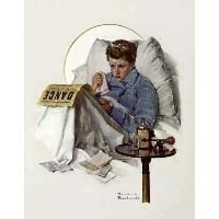 """Norman Rockwell """"Missed the Dance"""" (1937)"""