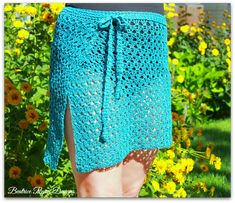 Amazing Grace Bathing Suit Wrap - free adjustable size crochet pattern from Beatrice Ryan Designs. Skirt Pattern Free, Crochet Skirt Pattern, Crochet Skirts, Wrap Pattern, Crochet Clothes, Skirt Patterns, Simple Pattern, Coat Patterns, Petticoats