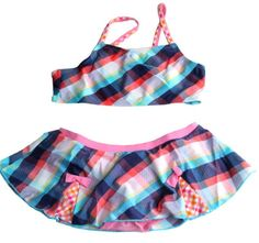 Adorable Essential's Plaid Swimsuit   Two piece swimwear. Please check measurements before ordering. All sales are final. No returns or exchanges. Free shipping on all U.S. orders.  Measurements 4 6 8 10  Chest 11 12.5 12.75 13  Waist 9.5 10 11 12,  ORDER Here ---- https://goo.gl/rqRN1A SHOP All Products ----http://adorableessentials.com   Free Shipping on All US Orders!