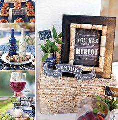 Rustic #Wine and Cheese Party + $500 Party Pack #Giveaway with @Glad! - LOVE THESE - Wine Weekend decor perhaps?