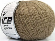 This is an excellent yarn with high-content of Alpaca Mohair and Merino Wool. Works excellent for your fine-weight patterns with more than 30 plain and melange colors. Fiber Content 40% Merino Wool 30% Acrylic 20% Alpaca 10% Mohair Brand Ice Yarns Brown fnt2-46570