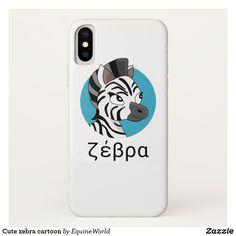 Cute zebra cartoon iPhone X Case Zebra Cartoon, Create Yourself, Create Your Own, Ipad Case, Iphone, Cute, Kawaii