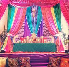 multicolor backdrop for sangeet party courtesy aliph aur meem