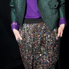 #Fall2012 Sequin Rebecca Minkoff pant. Are we the only ones excited that sequins and metallics are no longer just for night looks?