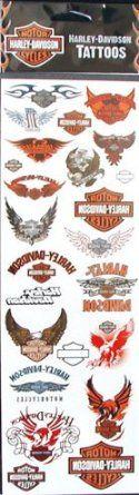 Amazon.com: 23 Harley Davidson Temporary Tattoos: Toys & Games