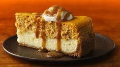 A sprinkle of spices and a rich caramel sauce takes a classic layered pumpkin cheesecake from good to great.