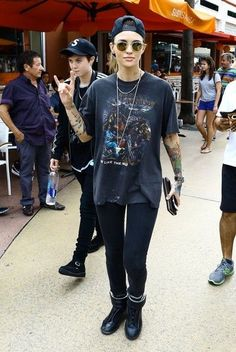 Ruby Rose Has Lunch in Miami