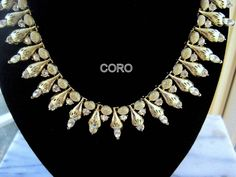 CORO Necklace Elegant 1960s Rhinestone Vintage Jewelry. $52.00, via Etsy. Comes perfect with http://wardrobeshop.com/content/40123-nataya-dress