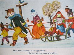 SALE  Dressed Cats. Very old Dutch Postcard. 1950 era by grandma62