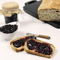 Blackberry-jam--this one uses cornstarch instead of pectin.