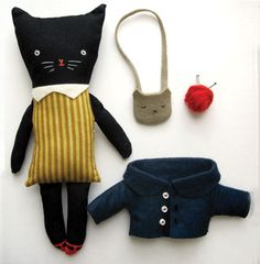 I love the cat's kitty purse.  Also check out this blog... it's super cute.