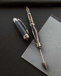 Stainless Steel Pen Pencil Spring Clip SINGLE with Magnetic Pad