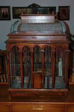 Vintage Bird Cage 35 Tall X 25 Wide X 16 Deep by goodwillhunting1