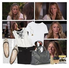 The Ex-Files - s02e04 - Serena by thegossiplook on Polyvore featuring James Perse, Monki, IRO, Valentino, Balenciaga, Marc by Marc Jacobs, Fendi, Dolce&Gabbana, blake lively and serena van der woodsen