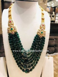 Beads mala weighs approximately 50 grams. Beads mala weighs approximately 50 grams. Beaded Jewelry Designs, Bead Jewellery, Designer Jewellery, Diamond Jewellery, Bridal Jewellery, Wedding Jewelry, Indian Necklace, Beaded Necklace, Necklaces