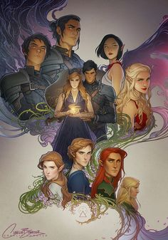 A Court of Thorns and Roses by Sarah J Maas A Court Of Wings And Ruin, A Court Of Mist And Fury, Throne Of Glass, Fanart, Charlie Bowater, Character Inspiration, Character Art, Feyre And Rhysand, Sarah J Maas Books