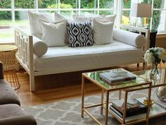Add a quick pop of color and pattern to your neutral scape with pillows #HomeGoodsHappy #sponsored