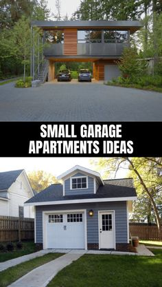 Small apartments won't be a problem for you to have your own garage. In fact, living in apartments will allow you to express more of your creativity and freedom Garage Apartment Plans, Garage Apartments, Small Apartments, Garage Apartment Interior, Garage Studio Apartment, Garage Plans With Loft, Garage House Plans, Small Garage Ideas, Tiny House Design