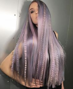 OMG Love the color and long, smooth style with ribbons of crimped hair by @guy_tang #hotonbeauty