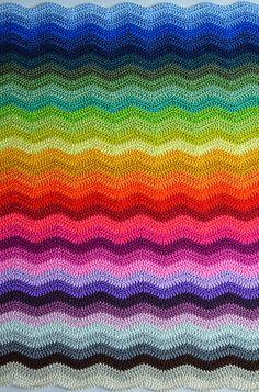 Colour inspiration  Ripple Blanket #2 Part 8 blau @ Die Krümelmonster AG | Flickr - Photo Sharing!