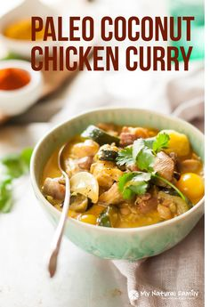 This chicken curry recipe is simple, delicious and dairy-free, Paleo, gluten free and Clean! I've made it tons of times for a quick weeknight meal.