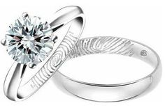 I LOVE these rings! They have the other persons fingerprint inside the ring!