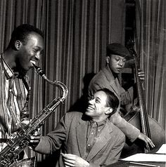 Hank Mobley, Silver & Doug Watkins in session at Rudy Van Gelder's home studio