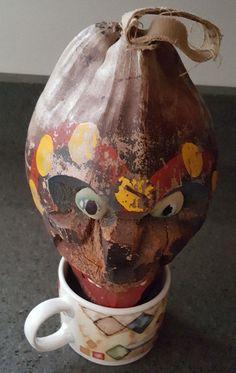 antique carved coconut head folk art treasure estate auction
