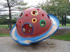 retro playground climbing structure