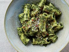 Rigatoni with Lemony Kale-and-Pecorino Pesto | This easy kale pesto pasta recipe from chef Chris Cosentino isn't just healthier than the traditional basil pesto pasta—it's also absolutely delicious.