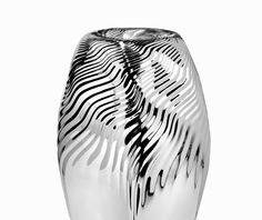 Zaha Hadid's duo of vases, 'Loa' and 'Vesu', is the newest highlight in the collection – and one of the most elaborate. It takes three months for the vases to leave Wiener Silber Manufactur Parametric Design, Zaha Hadid Architects, Architecture, Pattern, Silver, Industrial Design, Techno, Highlight, Dinnerware