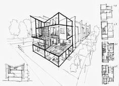 Modern Architecture Sketches eychaner/ lee housetadao ando sketch | modern architecture
