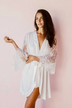 Bridal robe. So you look elegant in all those getting ready pictures.