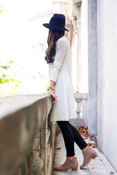 Travel Style - Calypso St. Barth sweater c/o James jeans c/o // Joie booties c/o  // BCBG tank Longchamp bag // Preston & Olivia hat  Monday, September 29, 2014