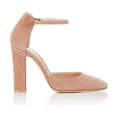 """""""54"""" suede mary jane pumps-colorless by Gianvito Rossi. Gianvito Rossi rose blush suede """"54"""" Mary Jane pumps. 4""""/100mm heel (approximately). Tapered toe. Elasticized inset a..."""