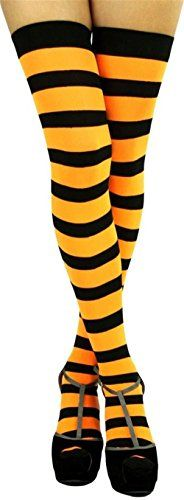 Raylarnia Women's Extra Long Opaque Striped Over Knee High Stockings Socks - http://droppedprices.com/stockings/raylarnia-womens-extra-long-opaque-striped-over-knee-high-stockings-socks/