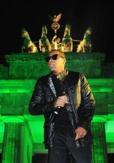 Jay-z wears Belstaff in Berlin.  available at www.BritishMotorcycleGear.com