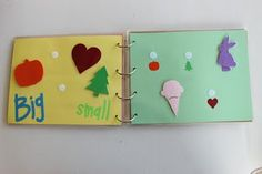 quiet book made with laminated pages rather than fabric