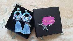 Polynas / Modre hoop strapcove nausnicky Hoop, Jewelery, Shoulder Bag, Handmade, Bags, Jewelry, Handbags, Jewels, Hand Made
