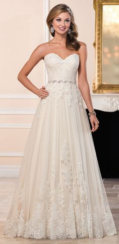 Stella York Tulle Wedding Dress with Sweetheart Neckline style 6210 a