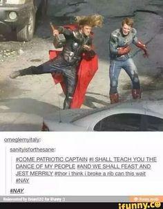 The Avengers Thor's dance