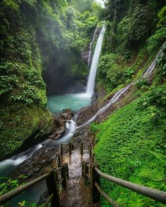 Aling-aling waterfalls Bali.