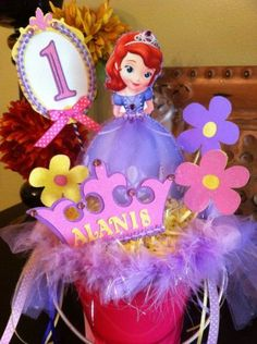 Custom made Sofia the First center piece