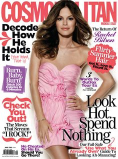 American actress Rachel Bilson photographed by Darren Tieste for the cover shoot of the entertainment magazine Cosmopolitan Middle East for their May 2012 issue.