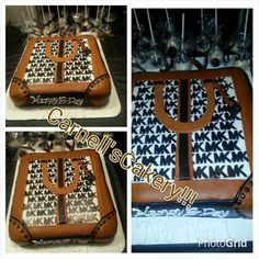 MK Purse Cake, with MK designer Cake pops. Carnell'sCakery