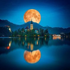 moon over slovenia