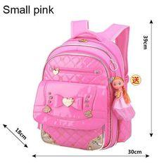 Cute Bow Princess Children School Bags Top Quality Orthopedic Waterproof  Backpack Mochila For Teenagers Kids Girls Rucksack P157. Girl BackpacksSchool  ... 9dff6f91a575f