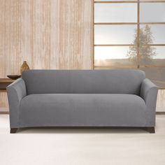 Sure Fit Stretch Morgan Sofa Furniture Cover (Storm Blue)